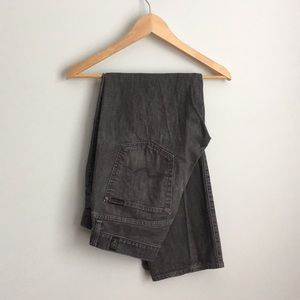 7 For All Mankind dark gray jeans